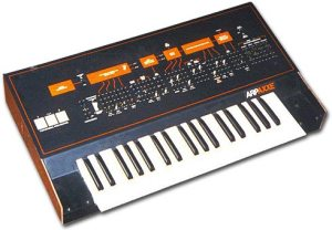 Arp Axxe monophonic synthesizer (Angled Top-Front View)