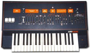 Arp Axxe monophonic synthesizer (Top View)